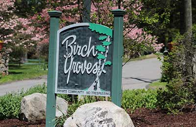 Birch Groves sign